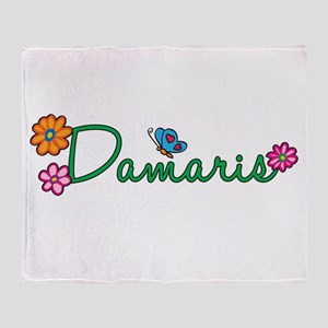 Damaris Flowers Throw Blanket